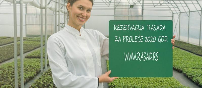 Rezervacija Rasada za 2020